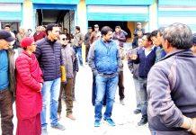 Divisional Commissioner Ladakh, Saugat Biswas interacting with public at Tangtse in Leh.