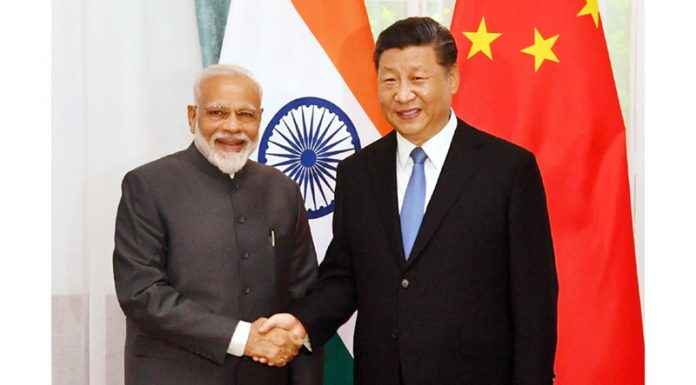 Prime Minister Narendra Modi and Chinese President Xi Jinping in Bishkek on Thursday.