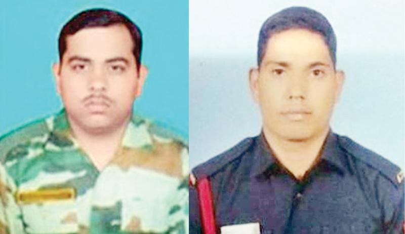 Havaldar Amarjeet Kumar and Naik Ajit Kumar Sahoo, martyrs of Pulwama IED attack.