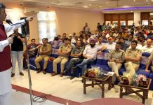 Team Jammu Chairman Zorawar Singh addressing in a programme on drug abuse.