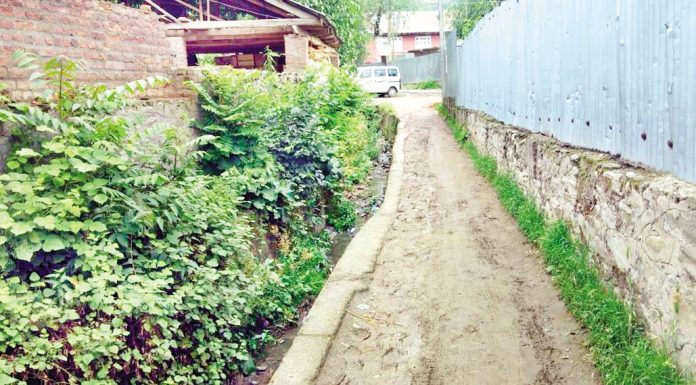 Canal rendered into a Nullah due to encroachments in Baramulla. -Excelsior/Aabid Nabi