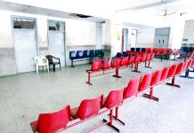 A deserted look of Medicine OPD of GMC Jammu on Monday due to doctors' strike. -Excelsior/Rakesh