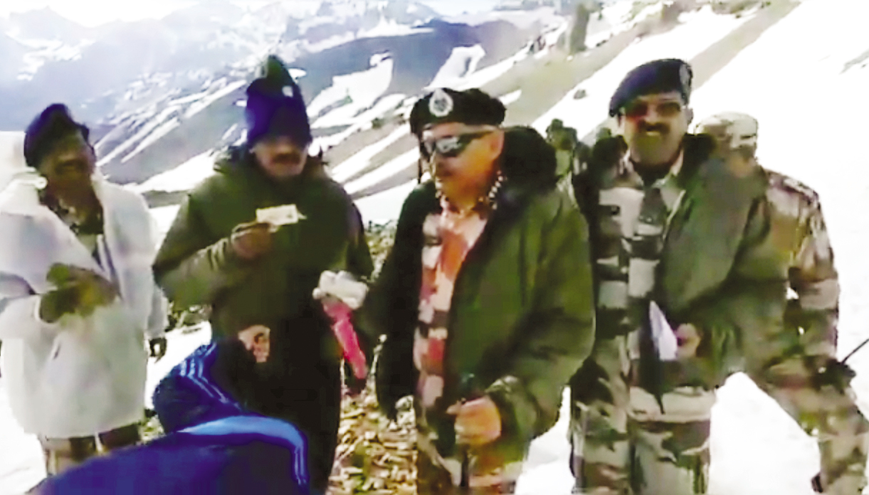 ITBP DG reviews Kailash Mansarovar Yatra arrangements in U'khand on Friday.