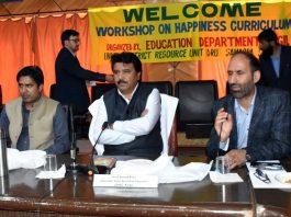CEC Kargil Feroz Ahmed Khan chairing a meeting on Monday.