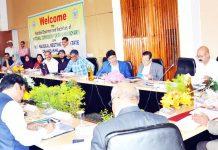 Chairman NCSK Manhar Valjibhai Zala chairing a meeting on Monday.