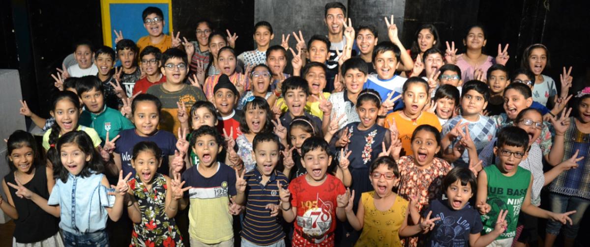 Children participating in Natrang's Theatre Camp.