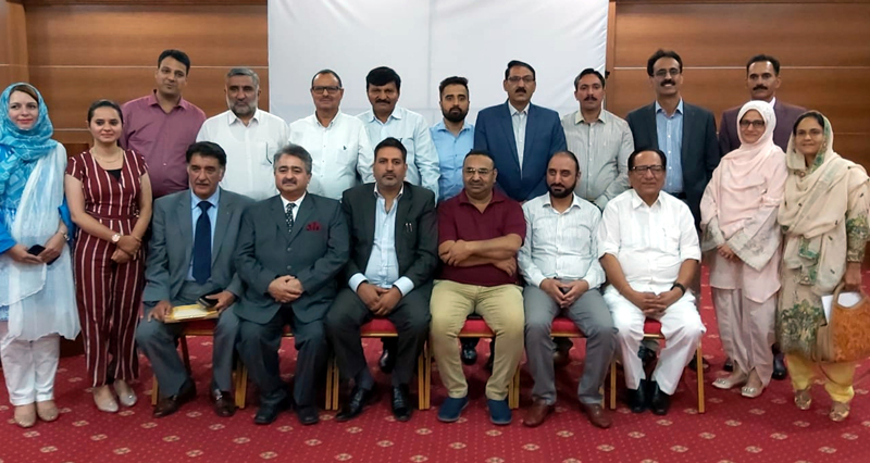 Members of J&K Joint Chamber at a meeting in Tashkent on Tuesday.