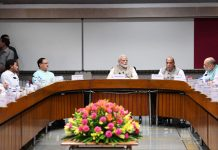 Prime Minister, Narendra Modi chairing an All Party Meeting in New Delhi on Wednesday.