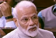 Prime Minister Narendra Modi speaking in the Rajya Sabha on Wednesday.