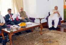 Governor Satya Pal Malik chairing SAC meeting.