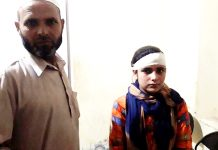 Minor girl injured in Pakistan shelling admitted in hospital in Poonch on Sunday. —Excelsior/Gurjitbhajan