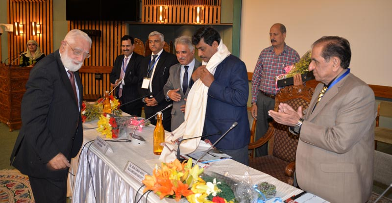 Financial Commissioner Dr Arun Kumar Mehta and other dignitaries during 2-day conference held at SKICC Srinagar.
