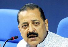 Union Minister Dr Jitendra Singh speaking at a commemoration function in New Delhi on Sunday.