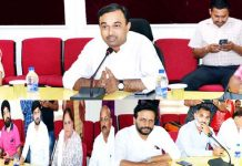 Deputy Commissioner Jammu chairing a meeting on Tuesday.