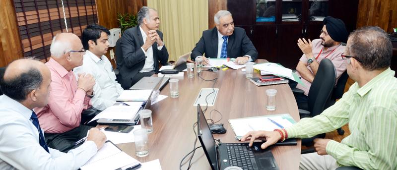 Dr. Ashok Bhan chairing Governing Body meeting of SMVDNSH on Wednesday.