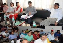 Commissioner Secretary Information, Manoj Kumar Dwivedi chairing a meeting on Wednesday.