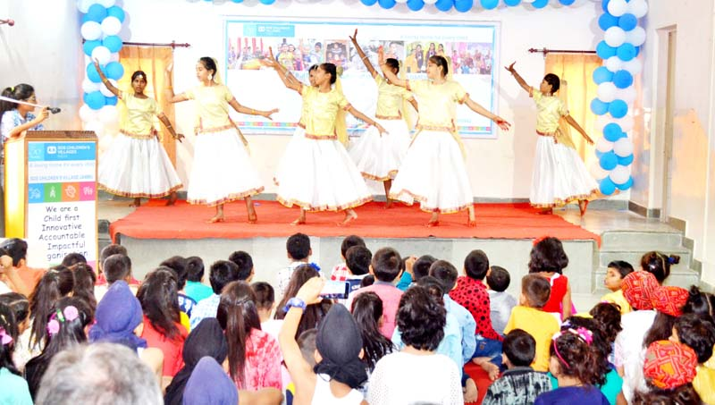 Children performing a cultural item during the celebration of Dr Hermann Gmeiner's birthday in Jammu.