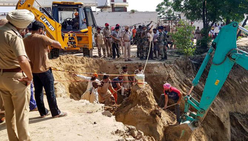 Sangrur DCP said it was the toughest operation carried out by the NDRF at a depth of more than 100 feet. A parallel borewell of 36-inch diameter was dug up to rescue the child.
