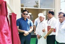 Commissioner Secretary power inaugurating Receiving Station at Mathwar.