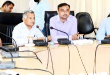 Deputy Commissioner Jammu chairing meeting on Wednesday.