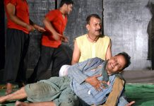 A scene of Natrang's play 'Bawa Jitto' staged at Katra.