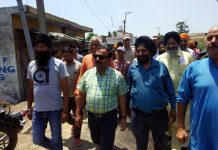 MLC, Vikram Randhawa during Chatha Pind tour on Wednesday.
