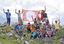 KCPS students during their adventure trek at Saach Pass region, Chamba in Himachal Pradesh.