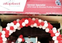 Aluplast India showroom at Trikuta Nagar, Jammu.