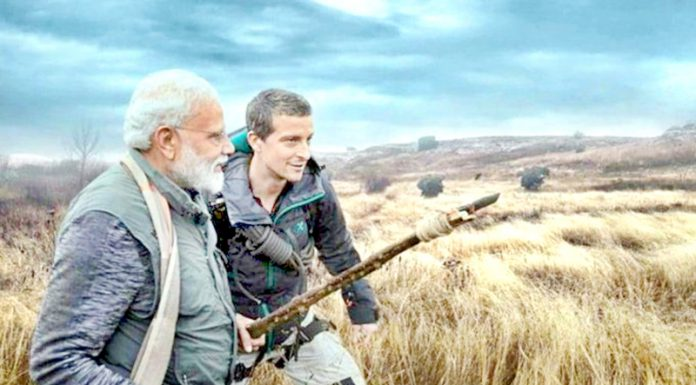 Prime Minister Narendra Modi features in Discovery's 'Man vs Wild' programme.