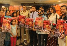 SSP Operations Jammu, Sandeep Mehta along with team of film 'Aaun Aan Shinda' releasing poster of the film. -Excelsior/Rakesh