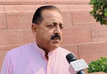 Union Minister Dr Jitendra Singh speaking to media outside Parliament House, at New Delhi on Tuesday.