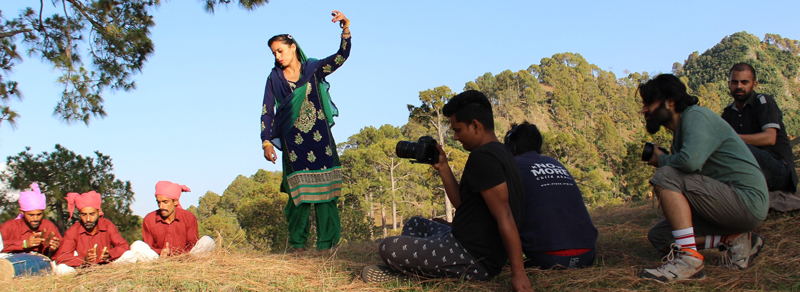 Members of Board of Cultural Activities in SMVDU making documentary on Dogra culture.