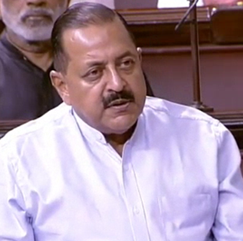 Union Minister Dr Jitendra Singh speaking in the Rajya Sabha.