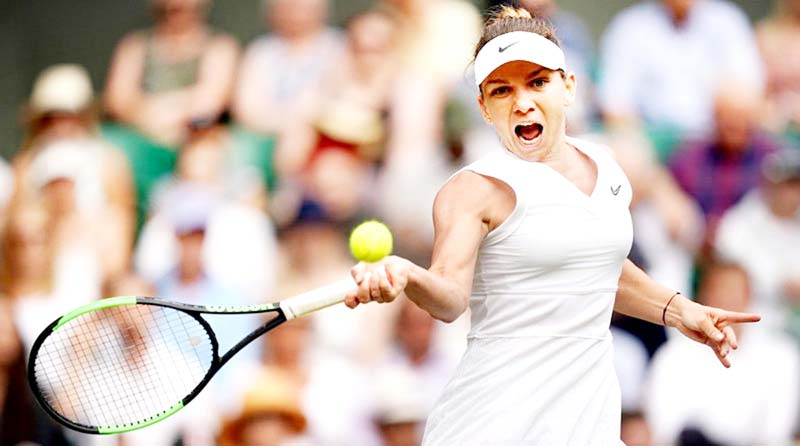 Simona Halep became the first Romanian woman to reach the Wimbledon final on Thursday when she defeated Ukraine's Elina Svitolina by 6-1, 6-3.