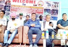 Dignitaries during inaugural ceremony of All India Inter State Championship.