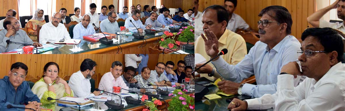 Advisor Vijay Kumar chairing a meeting on Tuesday.