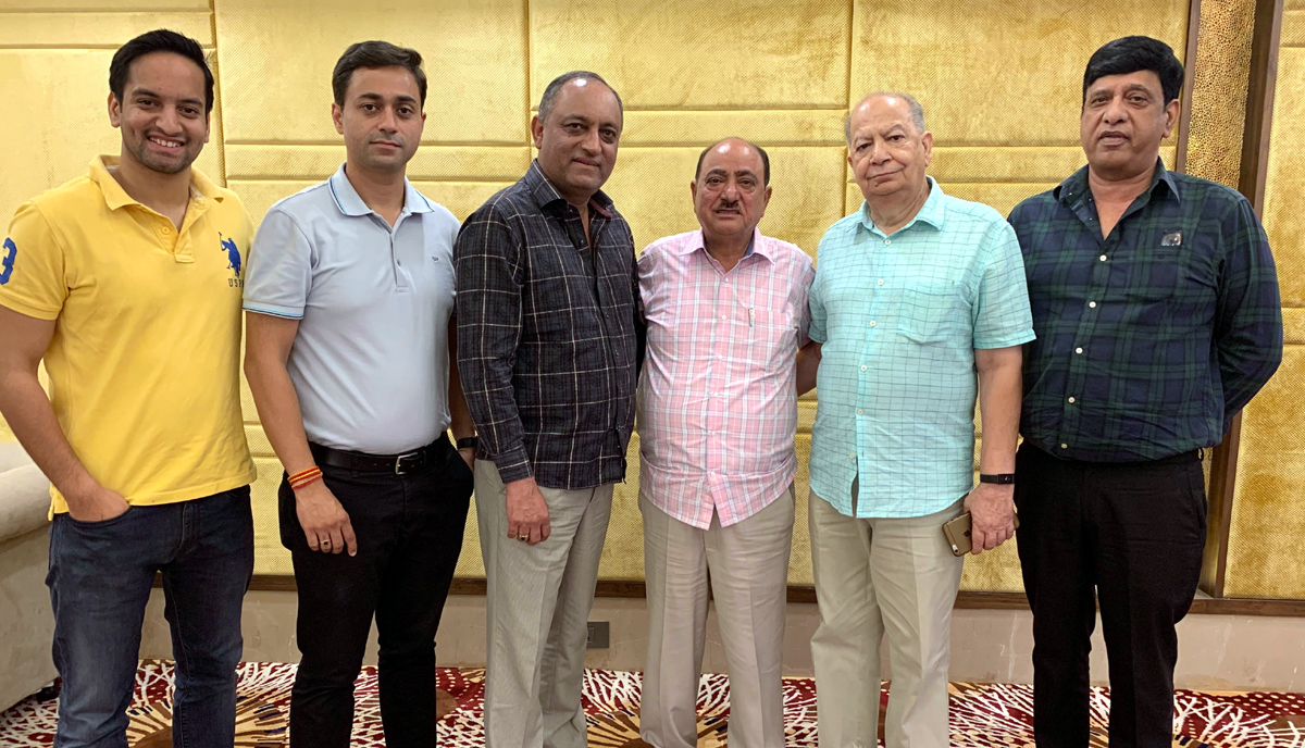 JHRBA office bearers posing for a group photograph after a meeting in Jammu.