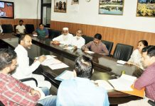 Divisional Commissioner Jammu Sanjeev Verma interacting with Muslim Federation delegation on Tuesday.