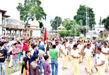 Devotees during annual Sarthal Devi Ji Yatra at Kishtwar. -Excelsior/Tilak Raj