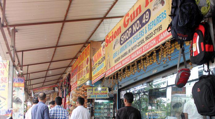 CBI raid at a gun dealer in Jammu on Tuesday. -Excelsior/Rakesh