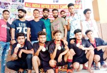 Winners of Football match organised by SDBI in Jammu.