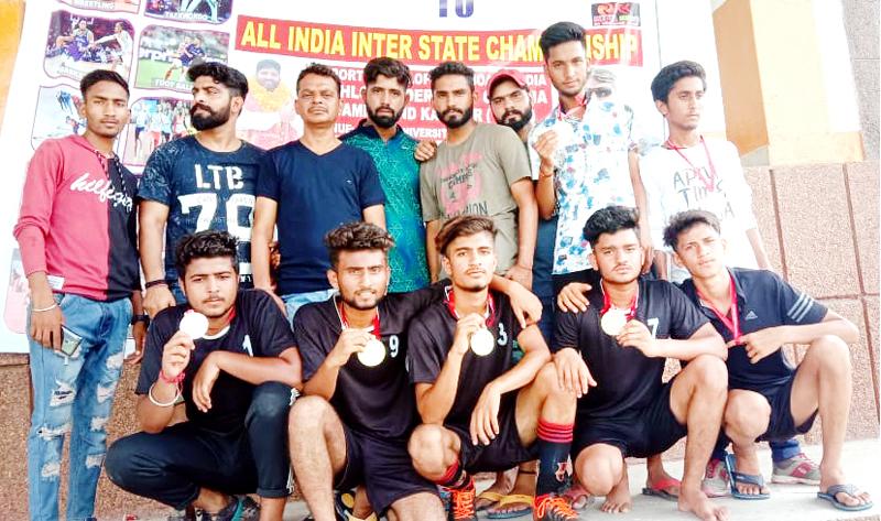 Winners of Football match organised by SDBI in Jammu.