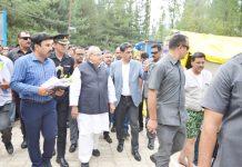 Governor Satya Pal Malik during visit to Nunwan Base Camp.