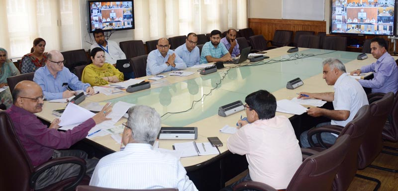 Chief Secretary BVR Subrahmanyam chairing a meeting on Wednesday.