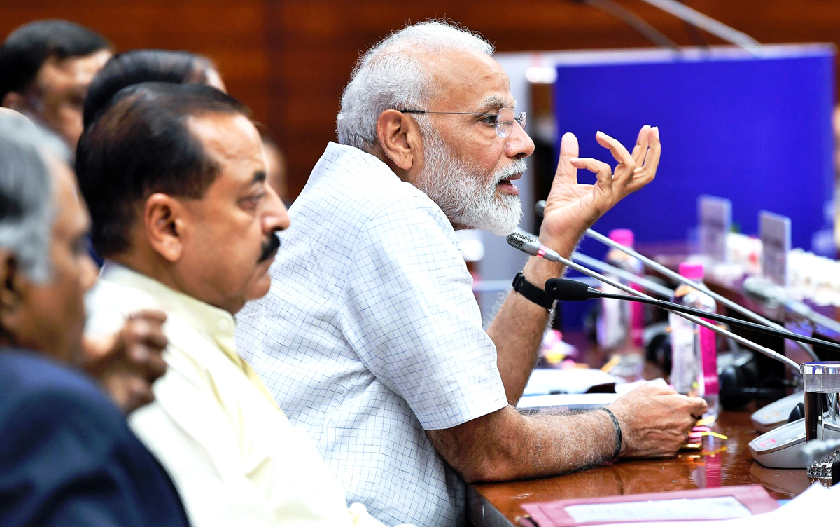 PM Narendra Modi interacting with 2017 batch IAS officers.