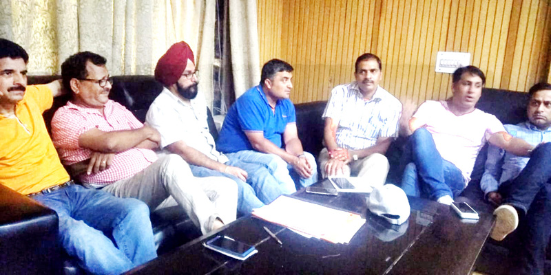 JAC of graduate engineers at a meeting in Jammu on Tuesday.