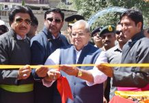 Governor Satya Pal Malik inaugurating Kargil Ladakh Tourism Festival at Khree Sultan Cho Sports Stadium on Sunday. — Excelsior / Basharat Ladakhi