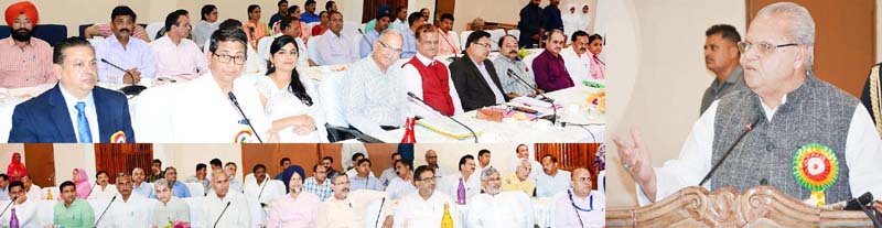 Governor Satya Pal Malik addressing conference of Principals of Navodaya Vidyalaya Samiti.