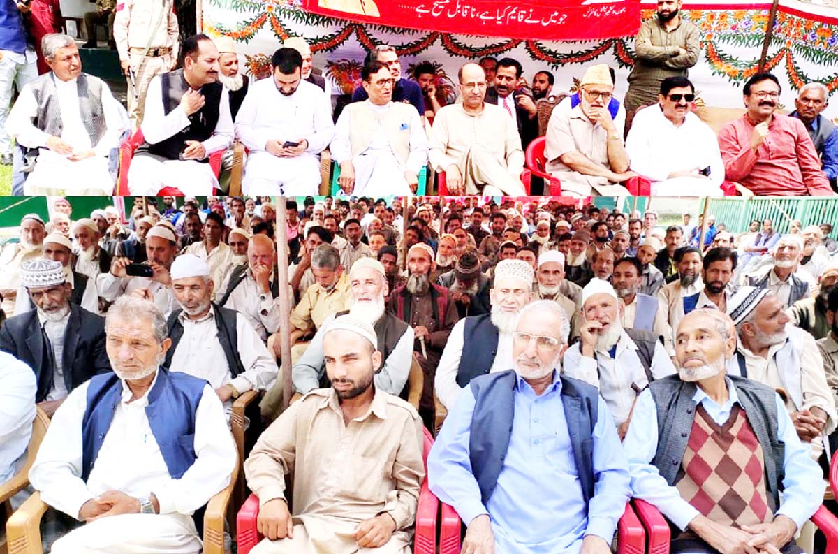 Senior NC leaders at a public meeting in Karnah on Monday.