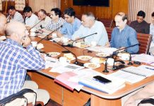 Principal Secretary, Planning Rohit Kansal chairing a meeting on Saturday.